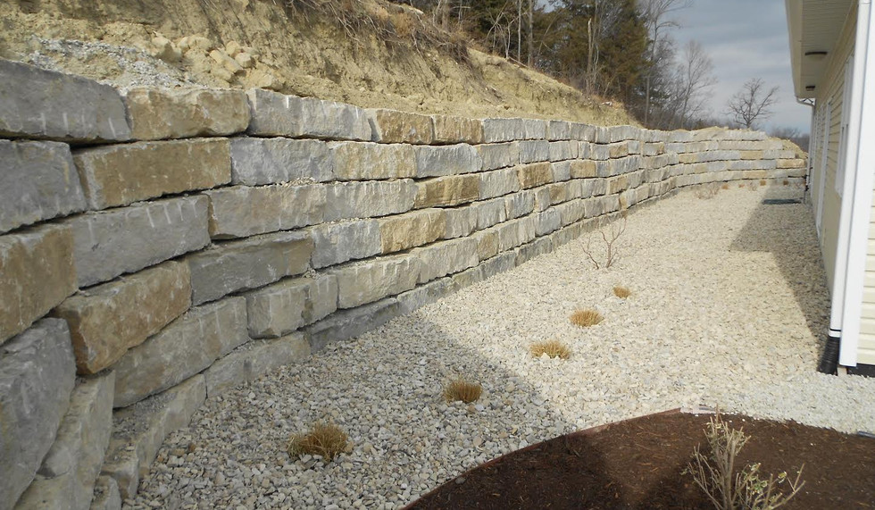 Large Rock retaining wall, Master Landscape, Inc.