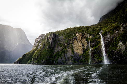 Boating in Milford Sounds, NZ
