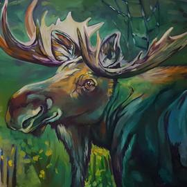 Portrait of Mule Buck