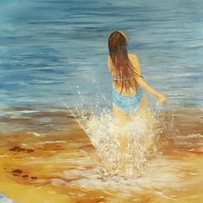 Big Splash, Janice Cornett-Ching, Acryli