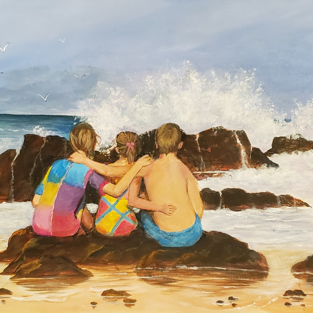 Watching the Surf, Janice Cornett-Ching,