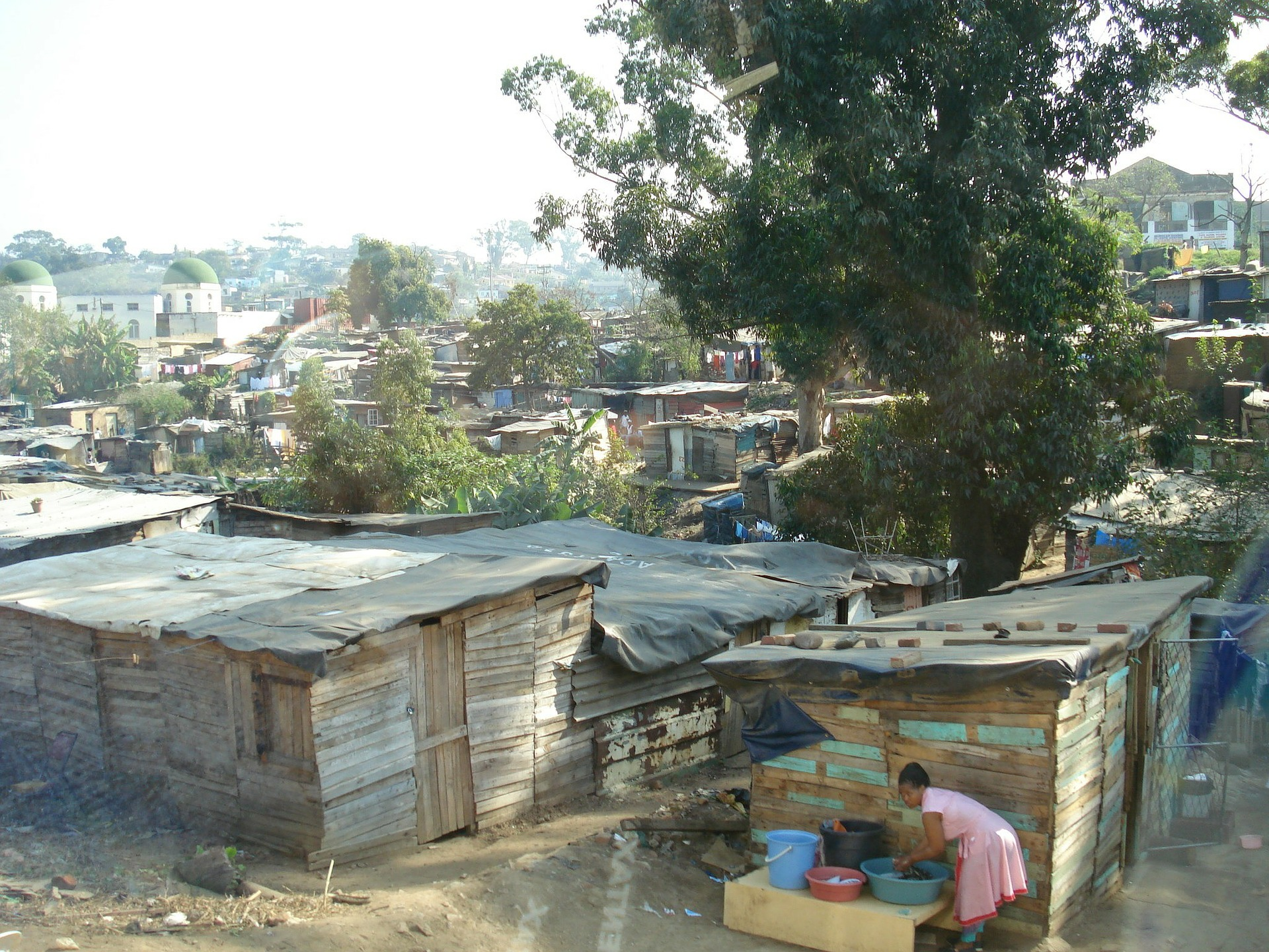 The local slums