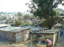 The local slums