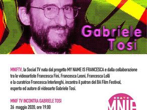 MNIF TV incontra Gabriele Tosi
