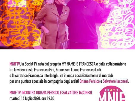 MNIF TV incontra Oriana Persico e Salvatore Iaconesi