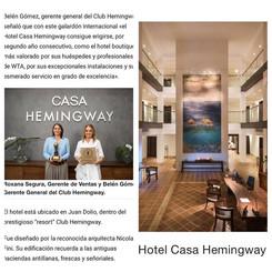 Hotel Casa Hemingway wins as best boutique hotel!
