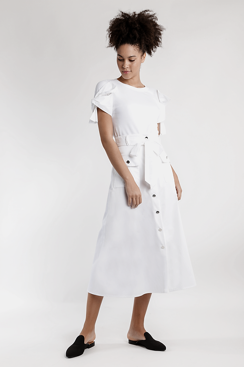 122106 - Long  straight skirt
