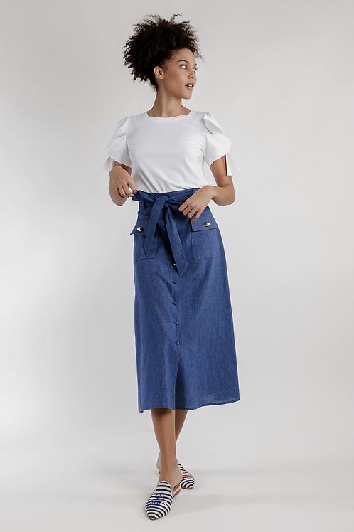 122107 - Long  straight skirt