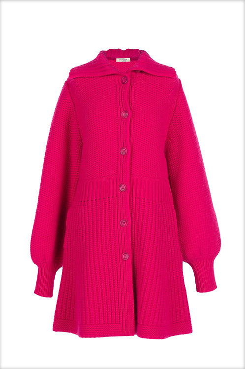 202TP3246 - KNITTED COAT - ROSA SHOCK