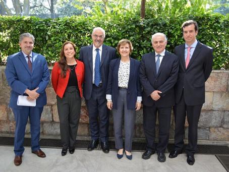 El  Embajador de Argentina Carlos Tomada, nos visitó en la Cámara de Comercio Mexicano Argentina.