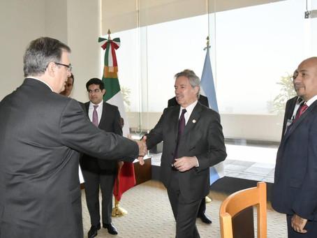 Se efectúa la primera reunión bilateral entre los cancilleres de México y Argentina.