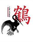 Chinese character and image of crane