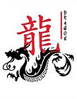Chinese character and image of dragon