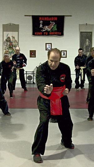 adult kung fu class in mandarin kung fu society dojo