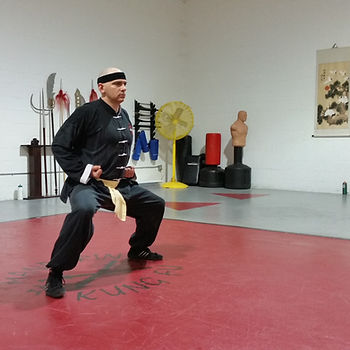 Man in Kung Fu horse stance
