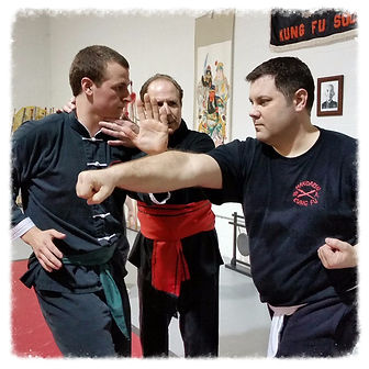 Adults training at Kung Fu