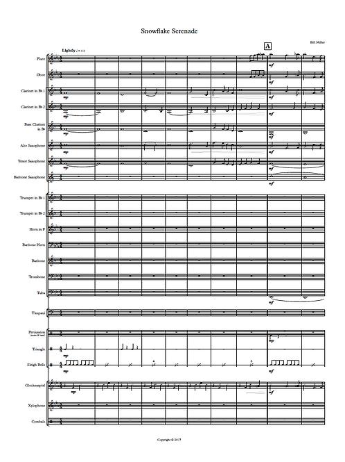 Snowflake Serenade - Concert Band Conductor's Score & Parts (PDF Version)