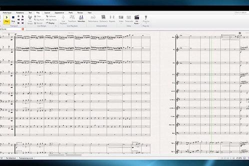 Marche Chromatique - Concert Band Conductor Score and Parts