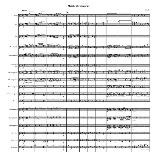 Marche Chromatique - Concert Band Conductor Score and Parts (PDF Version)
