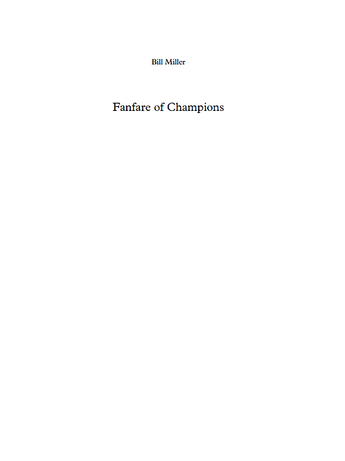 Fanfare of Champions - Concert Band Conductor Score & Parts (PDF Version)