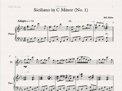 Siciliano in C Minor (No. 1)