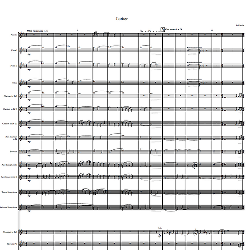 Luther - Concert Band Conductor Score & Parts