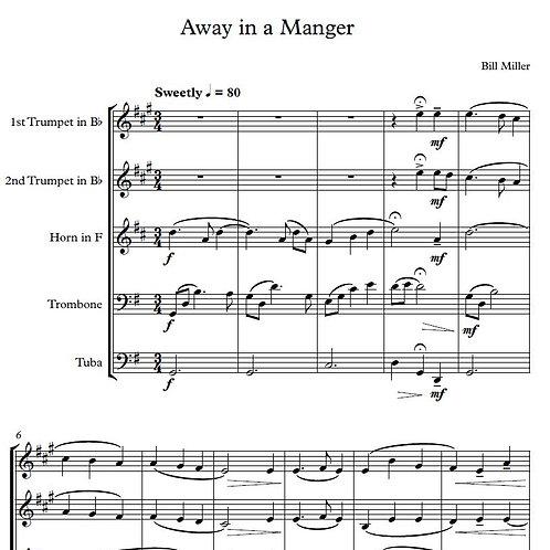 Away in a Manger - Brass Quintet Score & Parts