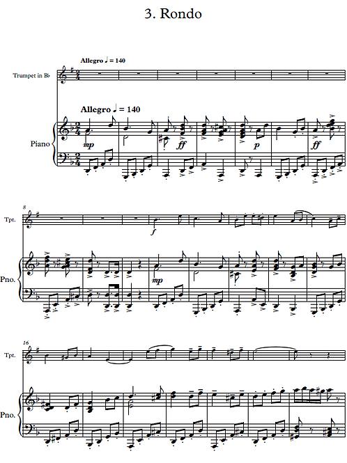 Sonata No. 5 for Trumpet and Piano in D Minor - Rondo