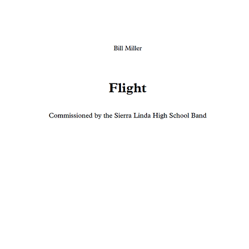 Flight - Concert Band Conductor Score & Parts