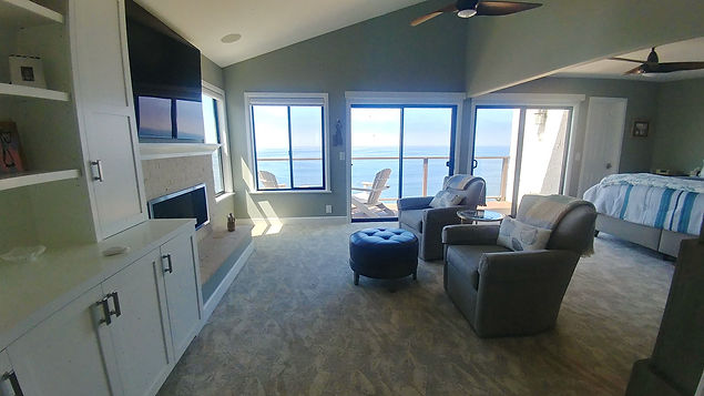 Cozy ocean view beach condo bedroom