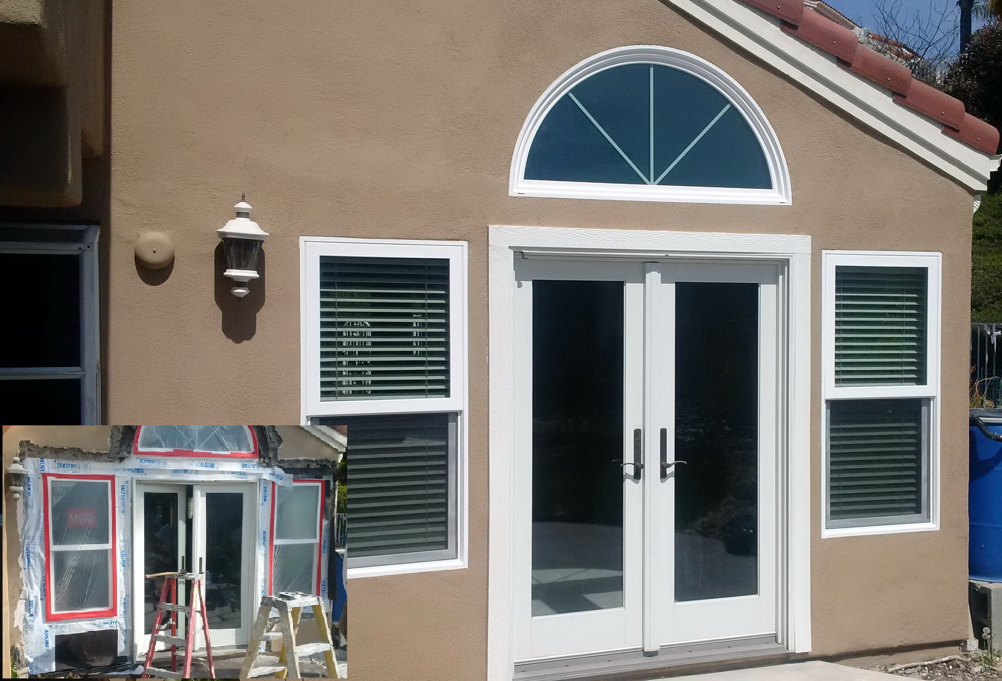 Window replacement and leak repairs