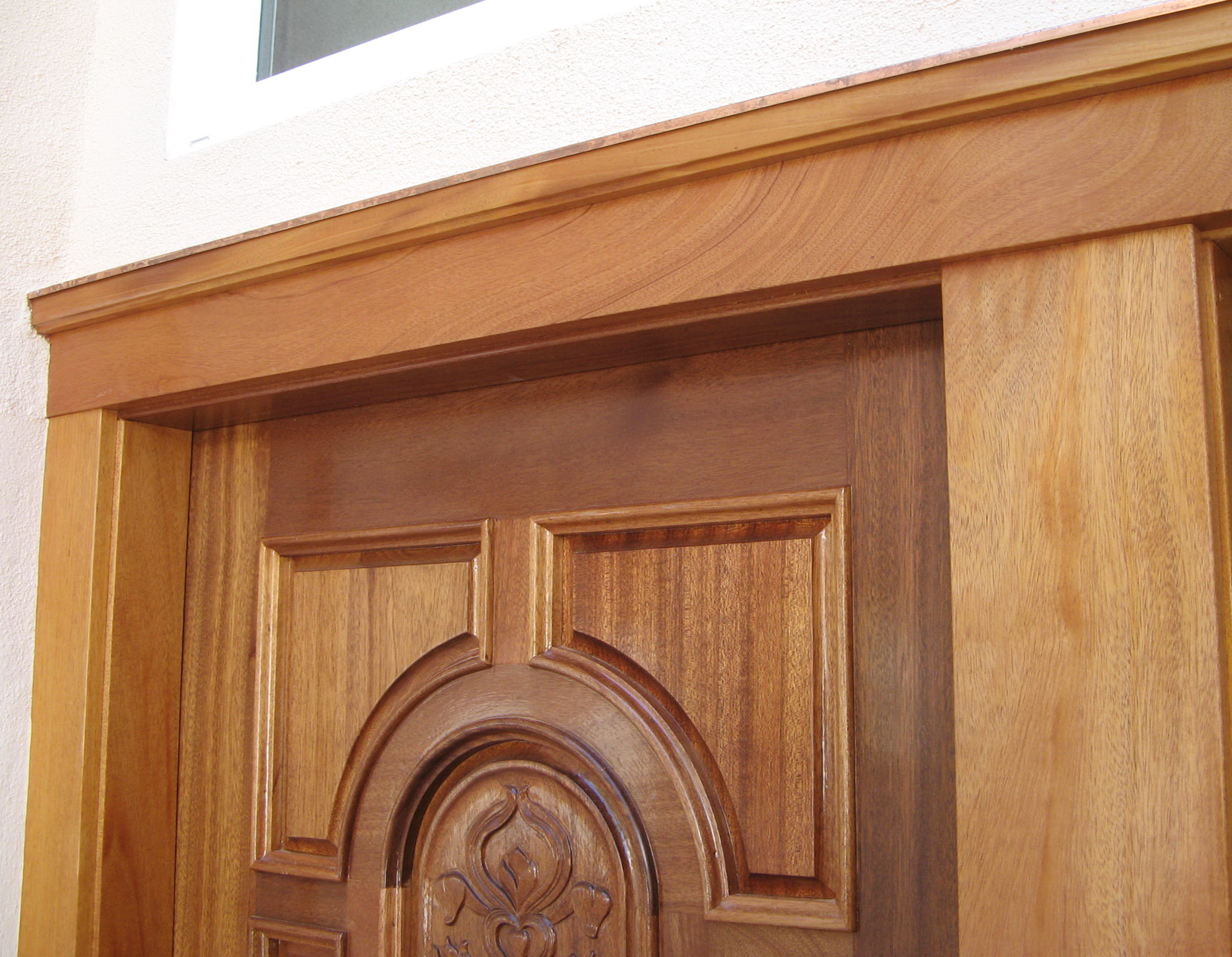 Entry door and trim detail