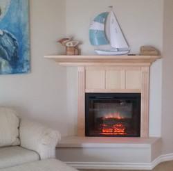 Laguna Beach fireplace and mantle