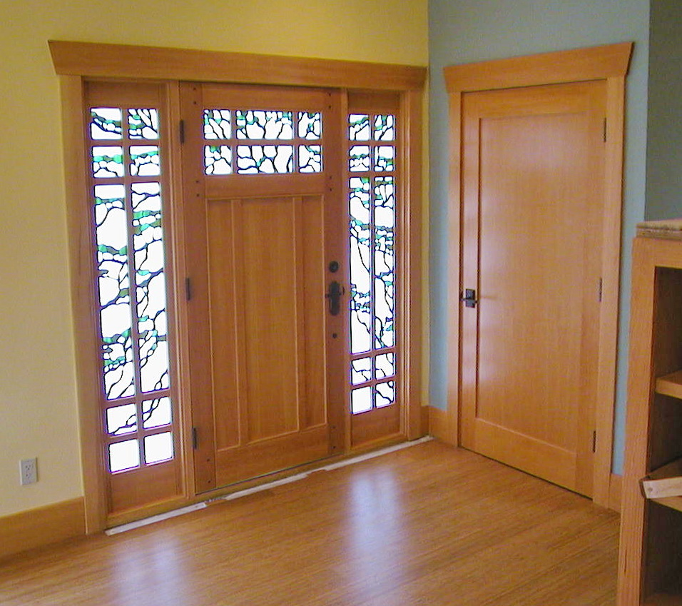 Capo Beach Craftsman entry and interior doors