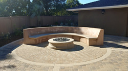 New outdoor fireplace and sitting area built by one of great subcontractors