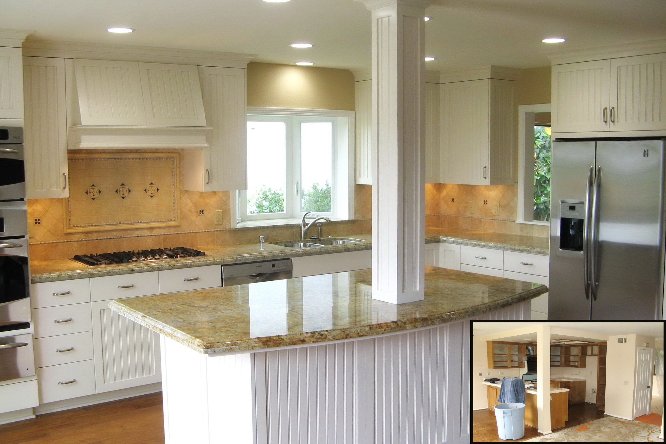 Laguna Niguel Traditional kitchen w structural B4aA