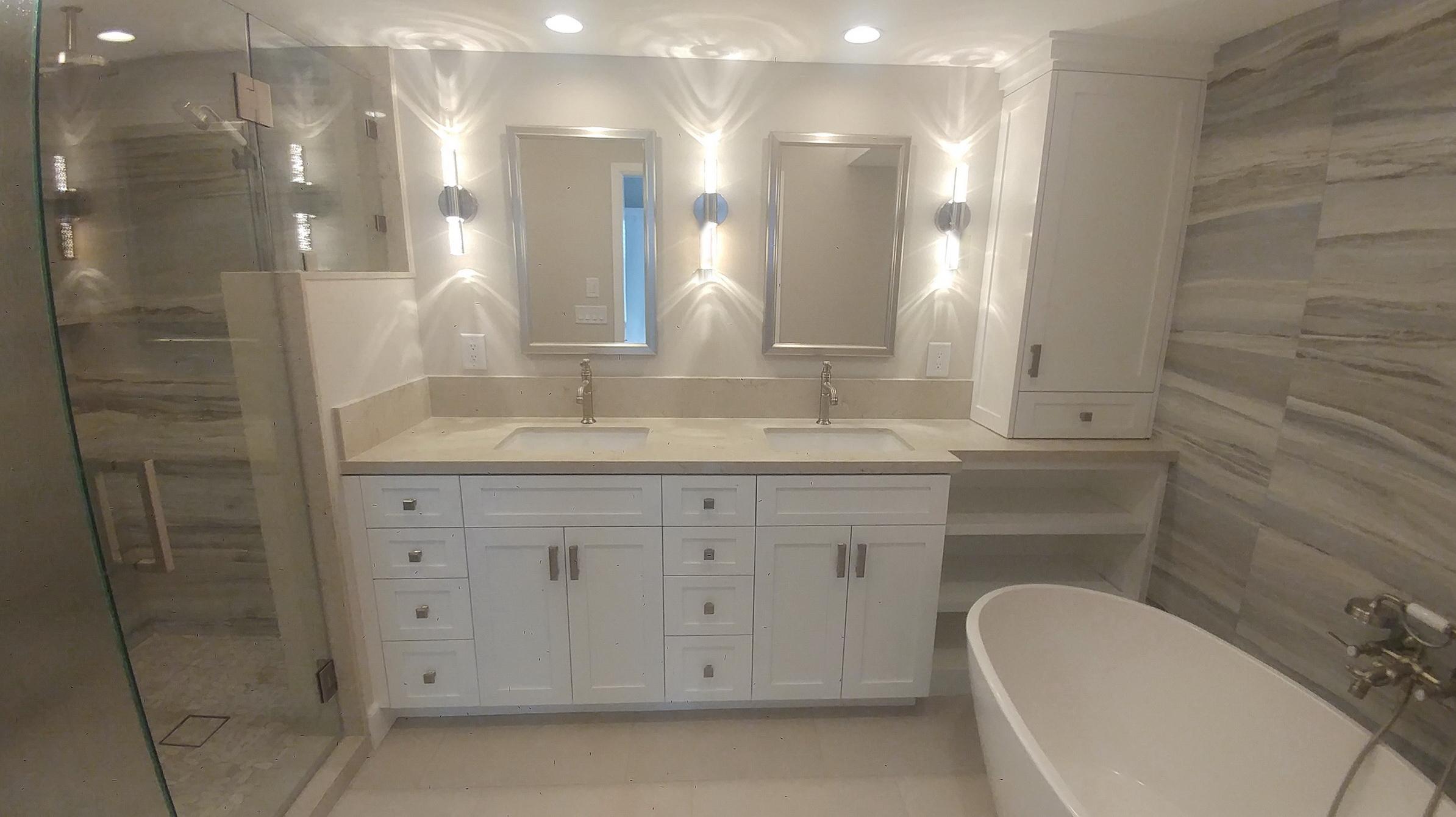 San Clemente condo master bath