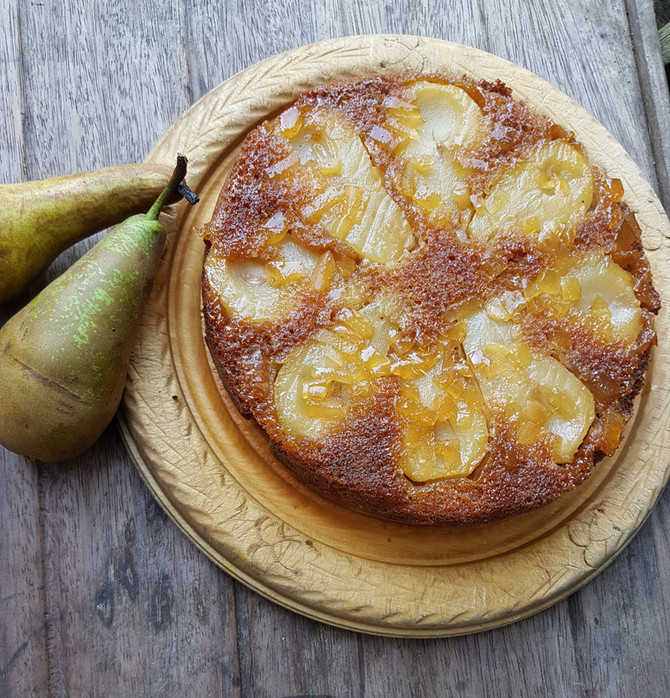 Easy Pear and Ginger Cake