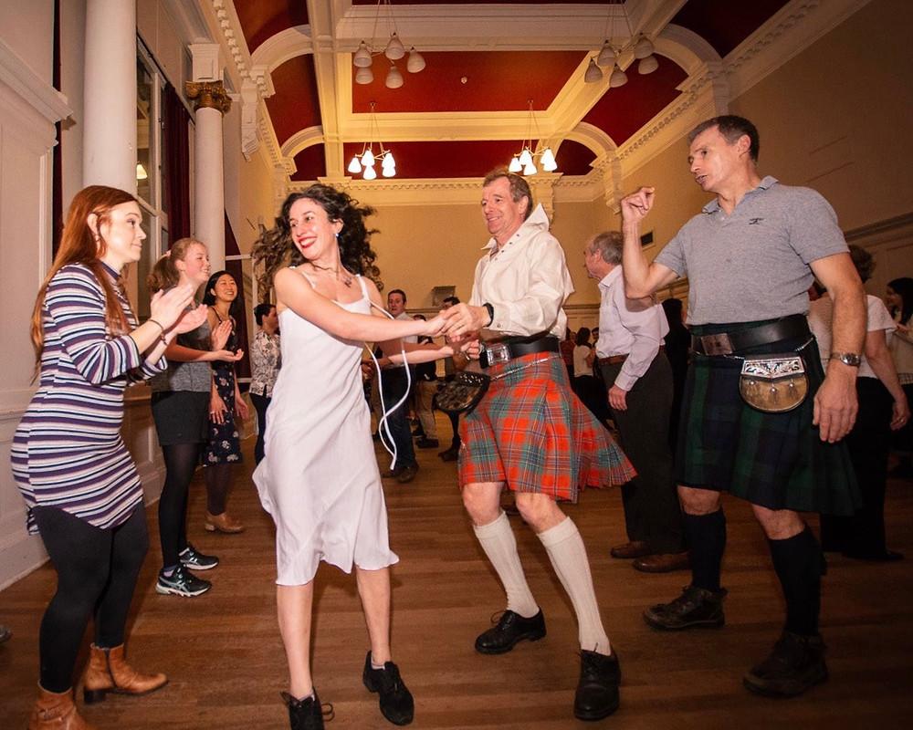 Ceilidh Dancers in Kilt in Edinburgh