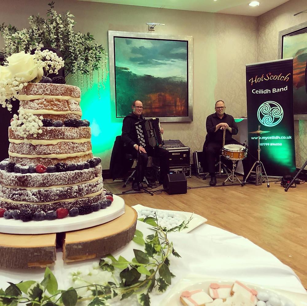 Amazing Italian wedding cake at Norton house Hotel