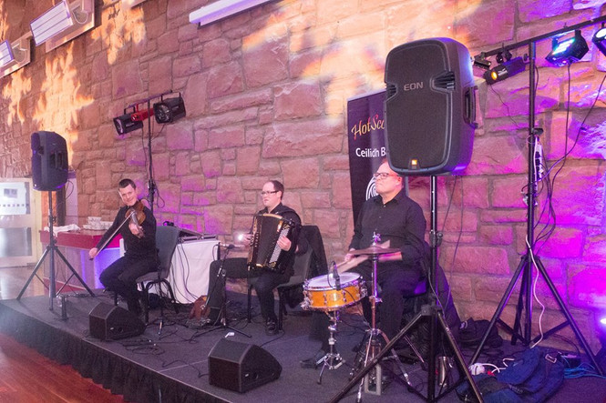 The Ceilidh Band mid-set