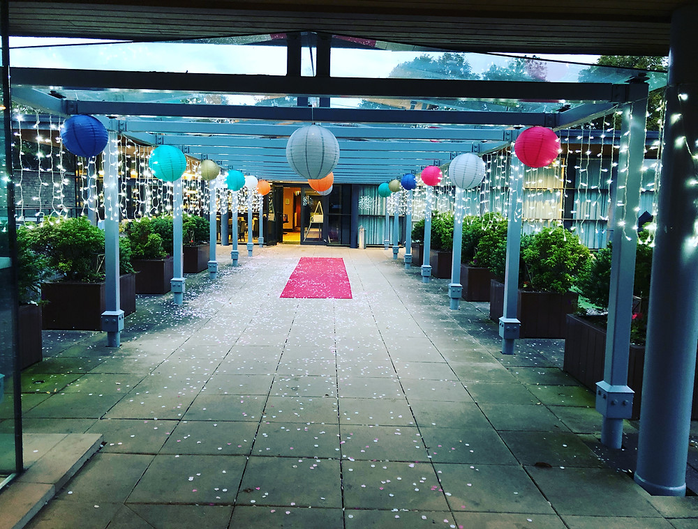 Decorated Walkway at Norton House Hotel