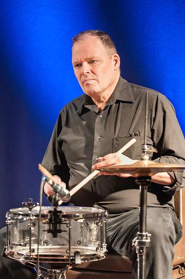 Edinburgh drummer Jim Walker with HotScotch Ceilidh Ban