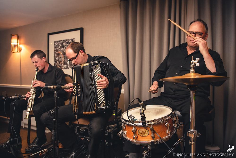 HotScotch Ceilidh Band playing for a wedding in Edinburgh