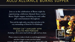 Burns Night Celebrations in Edinburgh