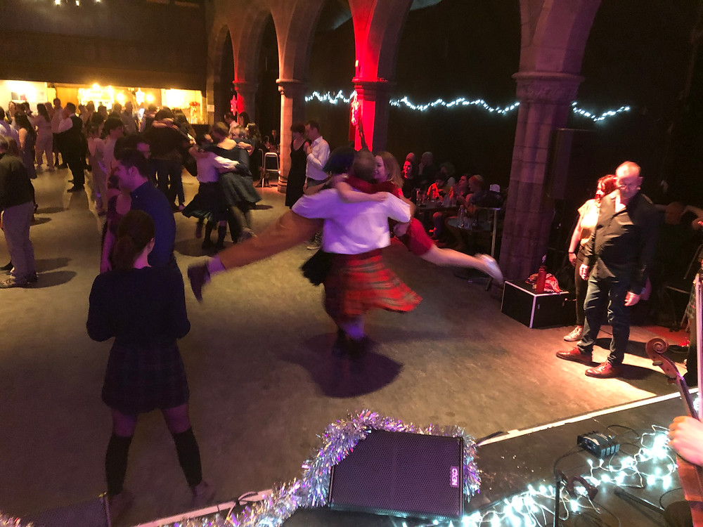 The Cumberland Square Eight Ceilidh Dance at the Hogmanay Ceilidh in Edinburgh