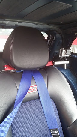 Headrest mount in car camera mount fitted to Ford Fiesta ST