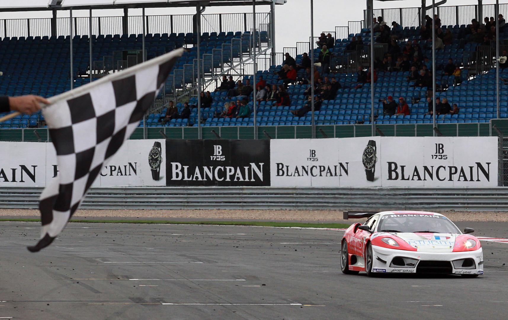 Winning Silverstone Blancpain Endurance series Silverstone, Ferrai 430 Scuderia GT3