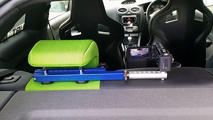Headrest mount in car camera mount fitted to Ford Focus ST