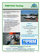 PRM can provide equipment for pilot testing for engineering consultants.